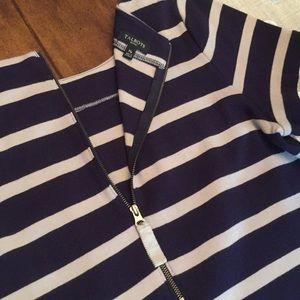 Talbots Dresses - Talbots Petites Dress Navy/Beige MP